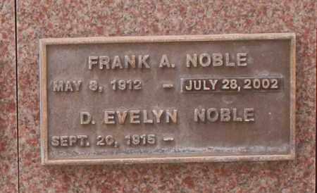NOBLE, D. EVELYN - Maricopa County, Arizona | D. EVELYN NOBLE - Arizona Gravestone Photos