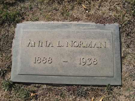 NORMAN, ANNA - Maricopa County, Arizona | ANNA NORMAN - Arizona Gravestone Photos