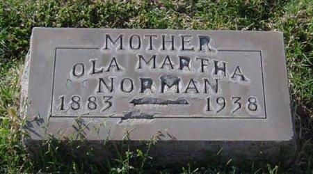 NORMAN, OLA MARTHA - Maricopa County, Arizona   OLA MARTHA NORMAN - Arizona Gravestone Photos