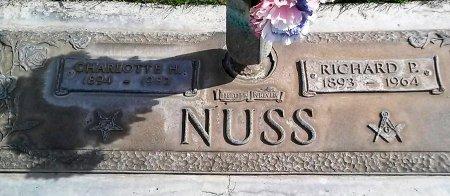 NUSS, CHARLOTTE H. - Maricopa County, Arizona | CHARLOTTE H. NUSS - Arizona Gravestone Photos