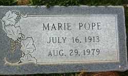 POPE, MARIE - Maricopa County, Arizona   MARIE POPE - Arizona Gravestone Photos