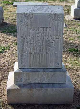 PORTER, ANNETTE - Maricopa County, Arizona   ANNETTE PORTER - Arizona Gravestone Photos