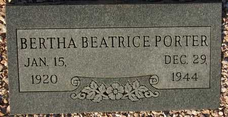PORTER, BERTHA BEATRICE - Maricopa County, Arizona | BERTHA BEATRICE PORTER - Arizona Gravestone Photos