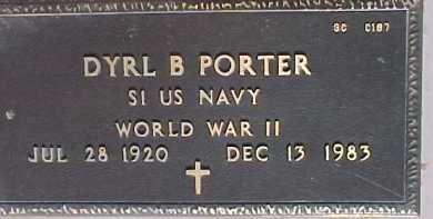 PORTER, DYRL B. - Maricopa County, Arizona   DYRL B. PORTER - Arizona Gravestone Photos