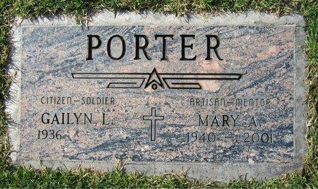 PORTER, MARY A - Maricopa County, Arizona   MARY A PORTER - Arizona Gravestone Photos