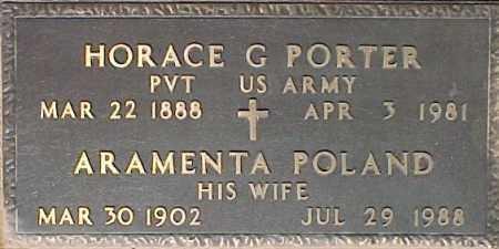 PORTER, HORACE G - Maricopa County, Arizona | HORACE G PORTER - Arizona Gravestone Photos