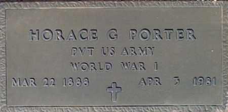 PORTER, HORACE G. - Maricopa County, Arizona | HORACE G. PORTER - Arizona Gravestone Photos