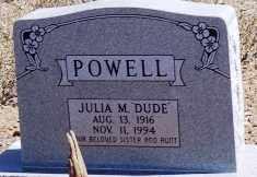 POWELL, JULIA M. (DUDE) - Maricopa County, Arizona | JULIA M. (DUDE) POWELL - Arizona Gravestone Photos