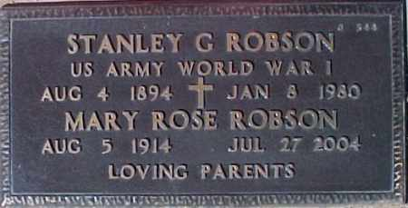 ROBSON, STANLEY G. - Maricopa County, Arizona   STANLEY G. ROBSON - Arizona Gravestone Photos
