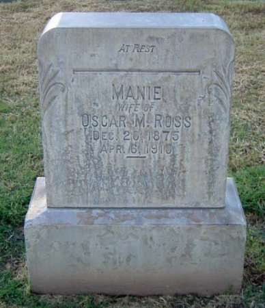 ROSS, MANIE - Maricopa County, Arizona | MANIE ROSS - Arizona Gravestone Photos