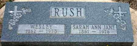 MUGHENY RUSH, SARAH ANN JANE - Maricopa County, Arizona | SARAH ANN JANE MUGHENY RUSH - Arizona Gravestone Photos