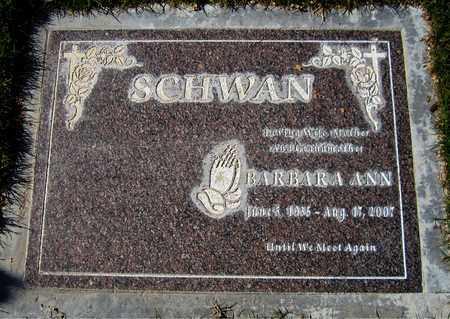SCHWAN, BARBARA ANN - Maricopa County, Arizona | BARBARA ANN SCHWAN - Arizona Gravestone Photos