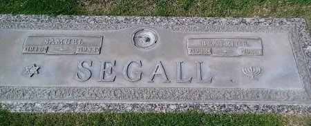 SEGALL, SAMUEL - Maricopa County, Arizona | SAMUEL SEGALL - Arizona Gravestone Photos