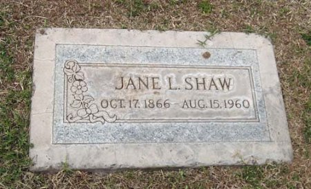 SHAW, JANE L. - Maricopa County, Arizona | JANE L. SHAW - Arizona Gravestone Photos