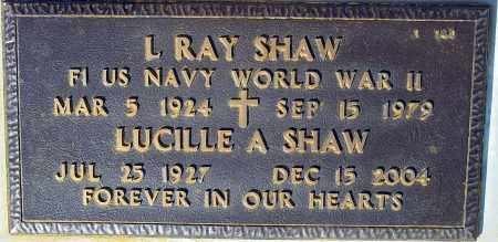 SHAW, L. RAY - Maricopa County, Arizona | L. RAY SHAW - Arizona Gravestone Photos