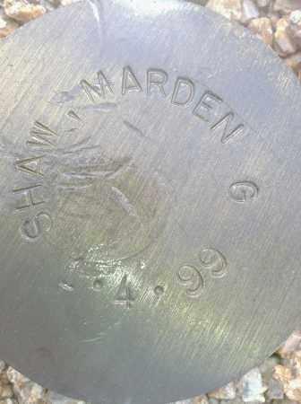 SHAW, MARDEN G. - Maricopa County, Arizona | MARDEN G. SHAW - Arizona Gravestone Photos