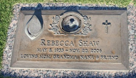 SHAW, REBECCA - Maricopa County, Arizona | REBECCA SHAW - Arizona Gravestone Photos