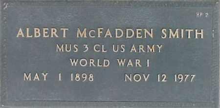 SMITH, ALBERT MCFADDEN - Maricopa County, Arizona | ALBERT MCFADDEN SMITH - Arizona Gravestone Photos