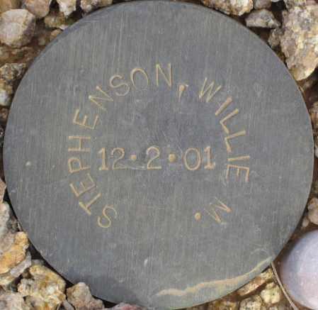 STEPHENSON, WILLIE M. - Maricopa County, Arizona   WILLIE M. STEPHENSON - Arizona Gravestone Photos