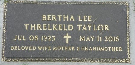 TAYLOR, BERTHA LEE THRELKELD - Maricopa County, Arizona | BERTHA LEE THRELKELD TAYLOR - Arizona Gravestone Photos