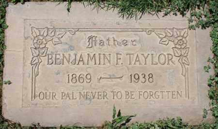TAYLOR, BENJAMIN F. - Maricopa County, Arizona   BENJAMIN F. TAYLOR - Arizona Gravestone Photos