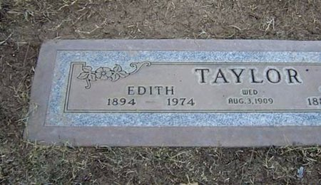 TAYLOR, EDITH - Maricopa County, Arizona   EDITH TAYLOR - Arizona Gravestone Photos