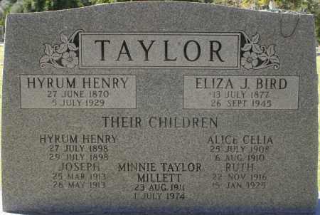 TAYLOR, HYRUM HENRY, SR. - Maricopa County, Arizona | HYRUM HENRY, SR. TAYLOR - Arizona Gravestone Photos