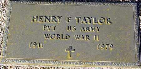 TAYLOR, HENRY F. - Maricopa County, Arizona   HENRY F. TAYLOR - Arizona Gravestone Photos