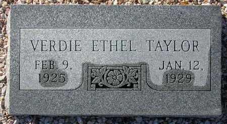 TAYLOR, VERDIE ETHEL - Maricopa County, Arizona | VERDIE ETHEL TAYLOR - Arizona Gravestone Photos
