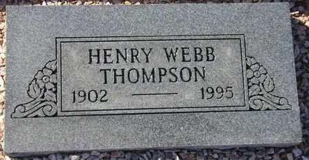 THOMPSON, HENRY WEBB - Maricopa County, Arizona | HENRY WEBB THOMPSON - Arizona Gravestone Photos