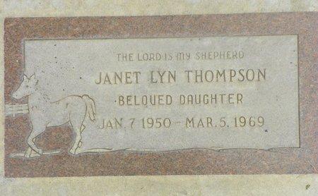 THOMPSON, JANET LYN - Maricopa County, Arizona | JANET LYN THOMPSON - Arizona Gravestone Photos