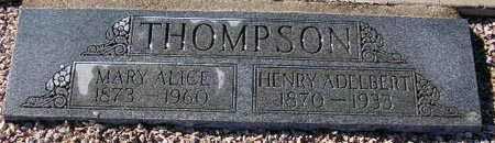 THOMPSON, MARY ALICE - Maricopa County, Arizona | MARY ALICE THOMPSON - Arizona Gravestone Photos