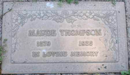 THOMPSON, MAUDE - Maricopa County, Arizona | MAUDE THOMPSON - Arizona Gravestone Photos