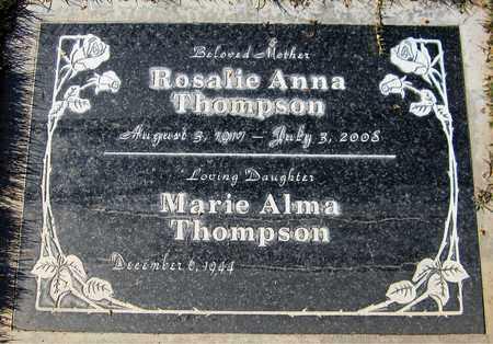 THOMPSON, MARIE ALMA - Maricopa County, Arizona   MARIE ALMA THOMPSON - Arizona Gravestone Photos