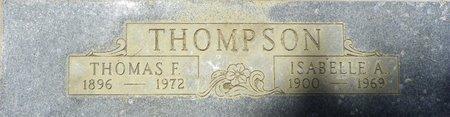 THOMPSON, ISABELLE A - Maricopa County, Arizona | ISABELLE A THOMPSON - Arizona Gravestone Photos