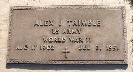 TRIMBLE, ALEX J. - Maricopa County, Arizona | ALEX J. TRIMBLE - Arizona Gravestone Photos