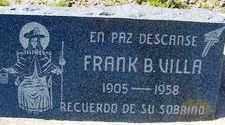 VILLA, FRANK B. - Maricopa County, Arizona | FRANK B. VILLA - Arizona Gravestone Photos