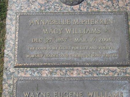 WILLIAMS, ANNABELLE - Maricopa County, Arizona | ANNABELLE WILLIAMS - Arizona Gravestone Photos