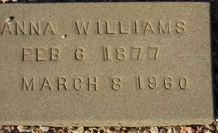 WILLIAMS, ANNA - Maricopa County, Arizona | ANNA WILLIAMS - Arizona Gravestone Photos