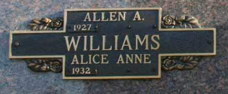 WILLIAMS, ALICE ANNE - Maricopa County, Arizona | ALICE ANNE WILLIAMS - Arizona Gravestone Photos
