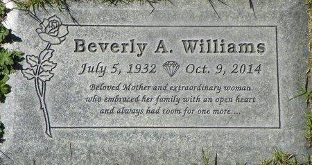 WILLIAMS, BEVERLY A - Maricopa County, Arizona   BEVERLY A WILLIAMS - Arizona Gravestone Photos