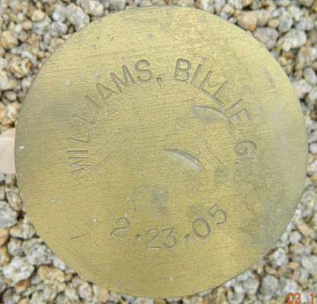WILLIAMS, BILLIE G. - Maricopa County, Arizona | BILLIE G. WILLIAMS - Arizona Gravestone Photos