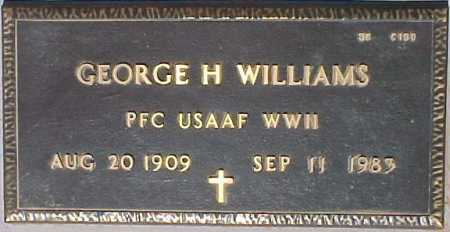 WILLIAMS, GEORGE H. - Maricopa County, Arizona | GEORGE H. WILLIAMS - Arizona Gravestone Photos