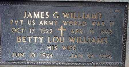 WILLIAMS, BETTY LOU - Maricopa County, Arizona | BETTY LOU WILLIAMS - Arizona Gravestone Photos