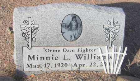 WILLIAMS, MINNIE L. - Maricopa County, Arizona | MINNIE L. WILLIAMS - Arizona Gravestone Photos