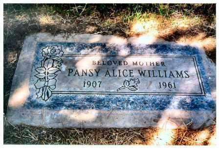 WILLIAMS, PANSY - Maricopa County, Arizona | PANSY WILLIAMS - Arizona Gravestone Photos