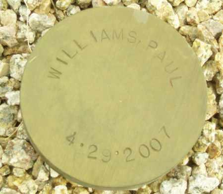 WILLIAMS, PAUL - Maricopa County, Arizona | PAUL WILLIAMS - Arizona Gravestone Photos