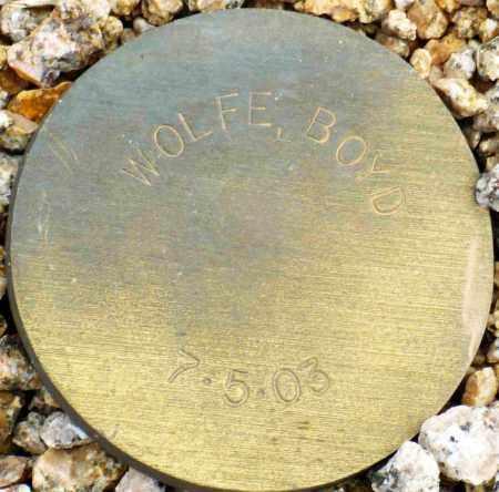 WOLFE, BOYD - Maricopa County, Arizona | BOYD WOLFE - Arizona Gravestone Photos