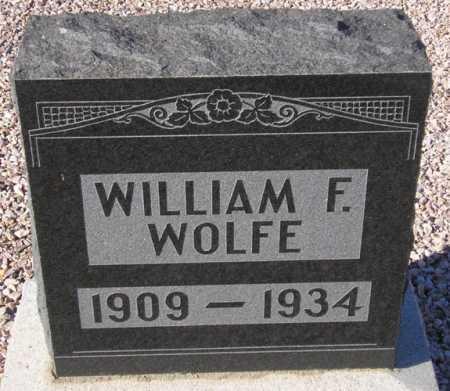 WOLFE, WILLIAM F. - Maricopa County, Arizona   WILLIAM F. WOLFE - Arizona Gravestone Photos