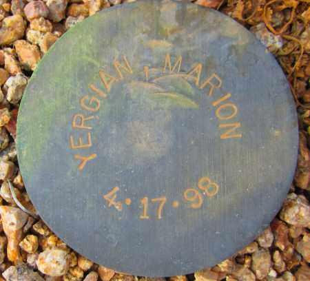 YERGIAN, MARION - Maricopa County, Arizona | MARION YERGIAN - Arizona Gravestone Photos